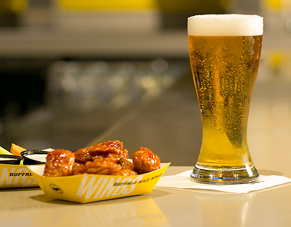 Wings and beer from Buffalo Wild Wings