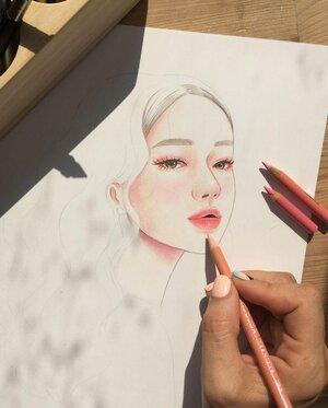 Portraits in Colored Pencil