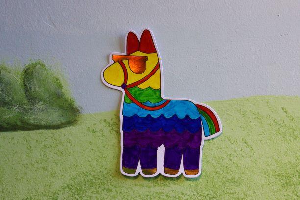 July Make & Take Monday – Summer Llama Coloring Cutouts