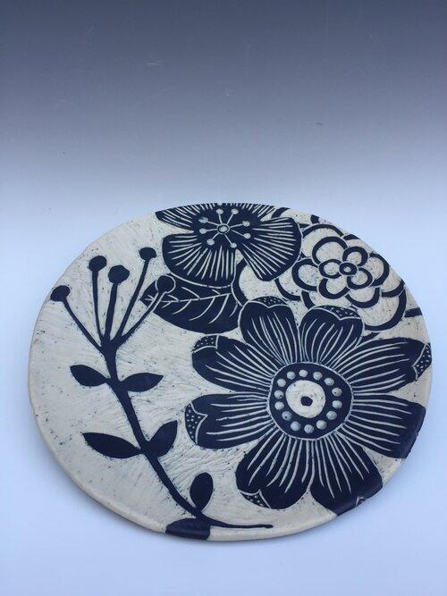 Large Sgraffito Platter